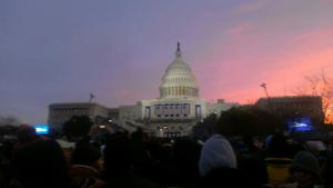 Sunrise over the Capitol.