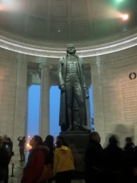 Bronze statue of Jefferson