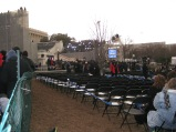 8 a.m. view of the seated section - reserved for special veterans.