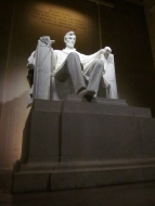 Lincoln Statue in the Lincoln Memorial [Photo by Katherine Fritcke]