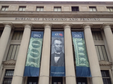 The Bureau of Engraving and Printing in Washington, D.C.