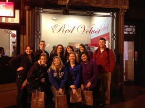 The group shot of those of us who participated in the Great Cupcake Adventure!