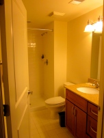 2 full bathrooms are included in each apartment.