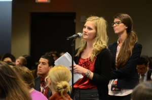 Lauren Ehrler wants to know if running negative ads is responsible campaigning. Photo by Noelle Smith.