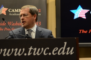Grover Norquist as a guest speaker in Thursday's academic lecture.