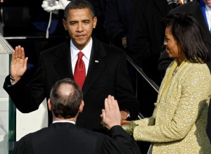 Obama Swearing In- 2009 [Image via Google Images]