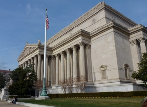 The National Archives, home of the Declaration of Independence, Constitution, and Bill of Rights.