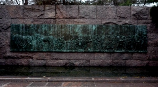 The passing of FDR, where the water is now calm and quiet.