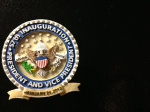 I admit, I buy into the phenomenon, too.The magnet I bought to remember the 57th Inauguration.