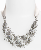 Nina 'Melaney' Ribbon & Cluster Bib Necklace at Nordstroms. $120