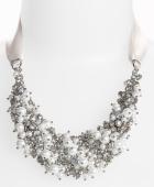 Nina 'Melaney' Ribbon & Cluster Bib Necklace at Nordstroms. $120