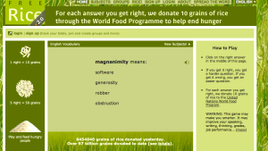 Freerice.com offers a way to improve your mind while also giving back!