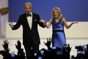 Joe Biden after his dance at the 2013 Inaugural BallImage taken by AP