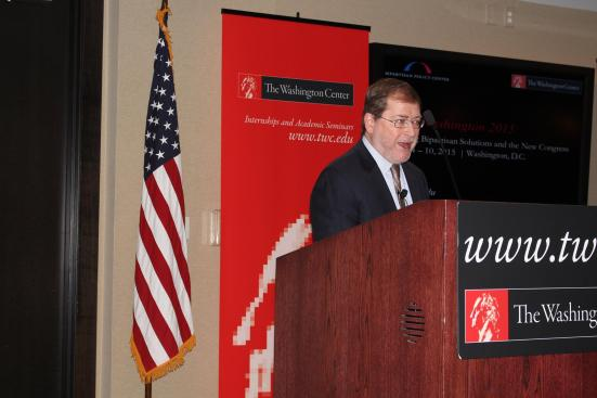 Grover Norquist, the founder and president of Americans for Tax Reform, discussed the difficulty of compromise in today's Congress Jan. 6 at the Washington Center in Washington D.C.