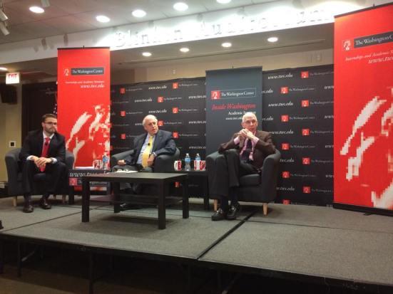 Secretary Glickman and Senator Bennett at The Washington Center. Photo By Jill Van Wyke.