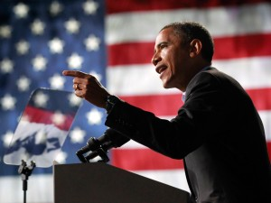 Image: U.S. President Barack Obama speaks at an election campaign rally in Columbus