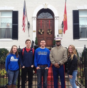 Photo with Captain Christopher Jones, United States Marine.