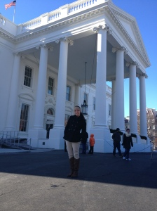 Kylie Jacobsen outside of the White House. Photo by Kate Brightwell