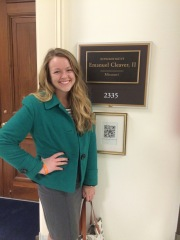 Kati Seeman at Rep. Emanuel Cleaver's office.