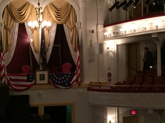 President Lincoln's box at Ford's Theatre.
