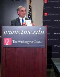 Executive Director for the Center of Immigration Studies Mark Krikorian lectures at The Washington Center
