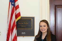 Kylie Jacobsen at Rep. Kevin Yoder's office.