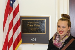 Jade Sells at Rep. Dina Titus' office.