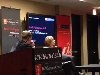 Sharyl Attkisson speaking at the Washington Center. Photo by Jade Sells