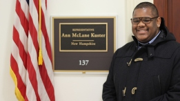Queion Swift at Rep. Ann McLane Kuster's office.