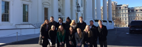 Drake students outside of the White House. Photo by Jill Van Wyke