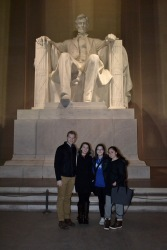 The adventurous group in front of Lincoln. Photo by Grace Dunn
