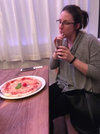 Enjoying some great pizza @ Vapiano! Just give a lady some good Italian food and you'll be set 😊 | Photo: Courtney Jasper