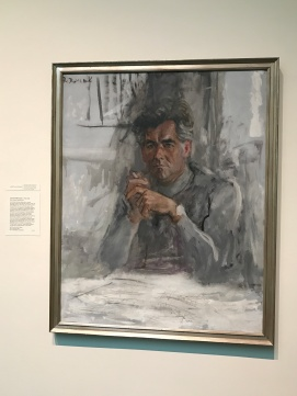 Legendary music performer and composer Leonard Bernstein immortalized in a painting. (Photo Credit: Riley Fink)