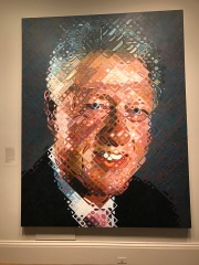 A stylized portrait of President Bill Clinton. (Photo Credit: Riley Fink)