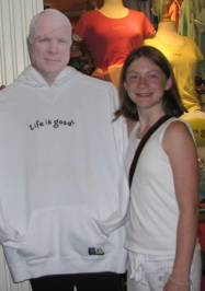 I didn't get the chance to meet any politicians during my previous trips to D.C. All I got was a picture with a cardboard cutout of Senator John McCain at an airport gift shop.