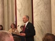 Sen. Chuck Grassley (R-IA). Photo credit: Harrison Yu